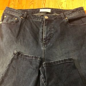 Eloquii Denim Dark Wash Skinny Jean - 16